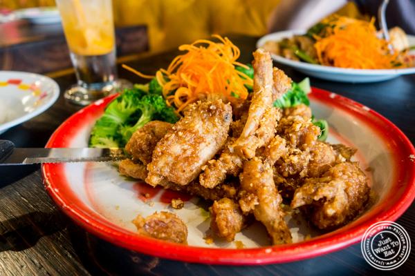 Ka Gob Gratiam at Esanation, Thai restaurant in Hell's Kitchen, NYC