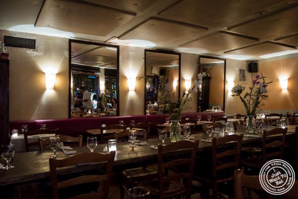 Dining room at Chez Jacqueline in Soho, NYC, NY