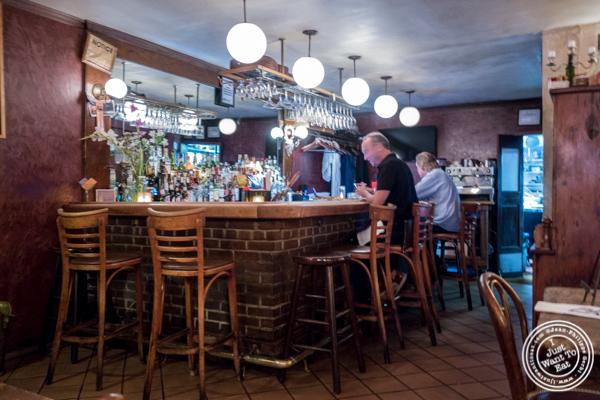 Bar at Chez Jacqueline in Soho, NYC, NY