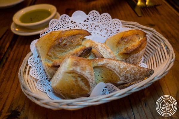 Epi bread at Chez Jacqueline in Soho, NYC, NY