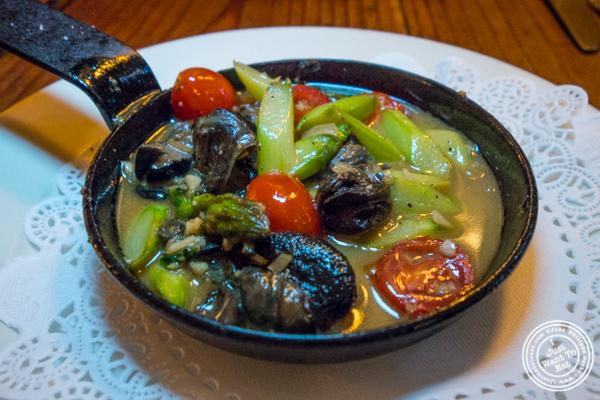 Escargots at Chez Jacqueline in Soho, NYC, NY
