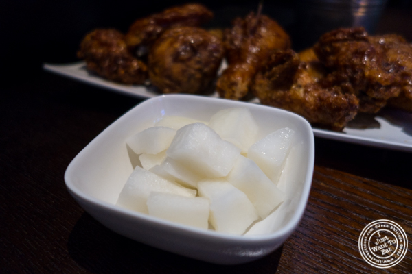 Daikon at BonChon Chicken, Financial District, NYC, NY