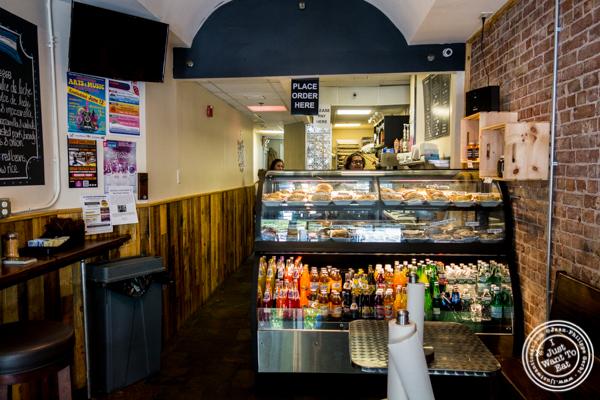 Counter at Empanadas Café in Hoboken, NJ