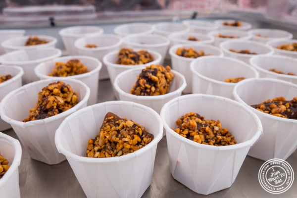 Roni-Sue's bacon butter crunch toffee at The Great Big Bacon Picnic in Williamsburg, Brooklyn