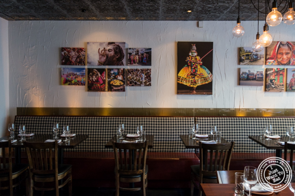 Dining room at Kurry Qulture in Astoria, Queens