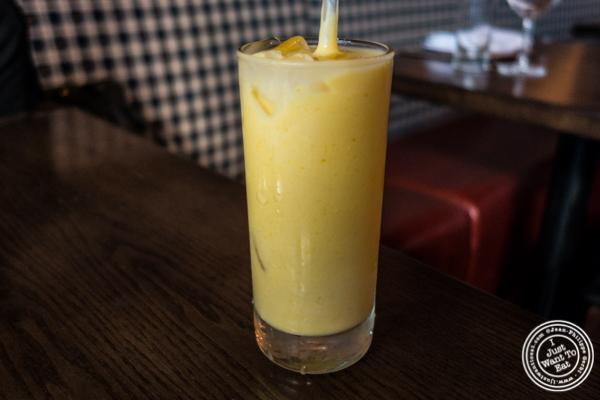 Mango lassi at Kurry Qulture in Astoria, Queens