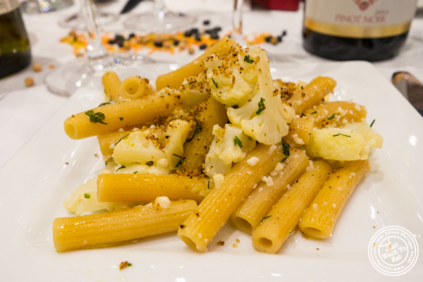 Pasta Lensi Yellow Lentils Penne Rigate with cauliflower and raisins