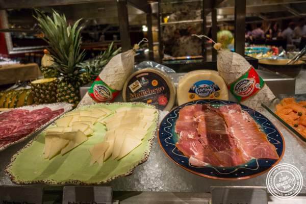 Salumi and cheese at Fogo de Chao in NYC, New York