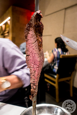 Bottom sirloin at Fogo de Chao in NYC, New York