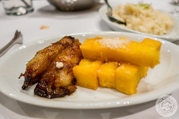 Caramelized bananas and polenta at Fogo de Chao in NYC, New York