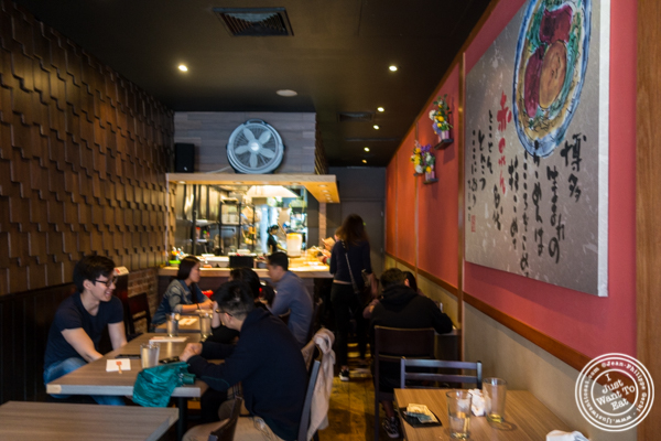 Dining room at Mentoku Ramen in Hell's Kitchen