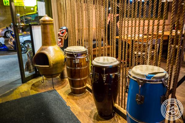 Bongo drums at Beija Flor, Long Island City