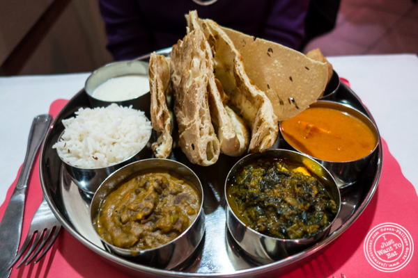 Vegetarian thali at Bombay Grill House in Hell's Kitchen
