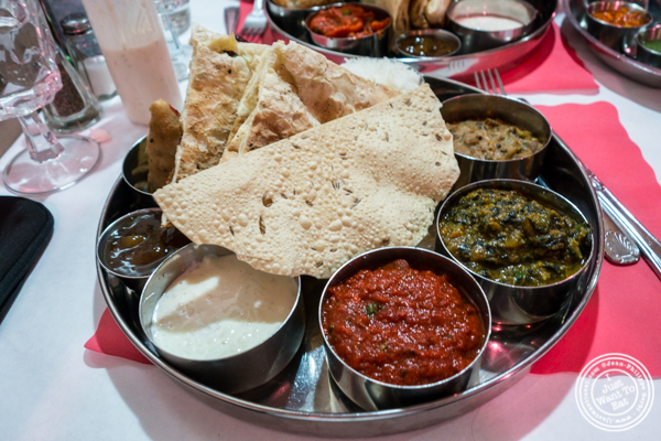 Non-vegetarian thali at Bombay Grill House in Hell's Kitchen