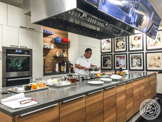 Chef Hooni Kim at De Gustibus Cooking School at Macy's, NYC, NY
