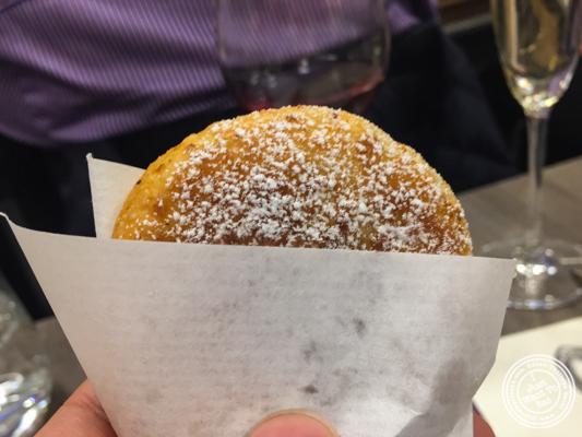 "Caramel filled Korean pan fried donuts ""hotteok"" at De Gustibus Cooking School at Macy's, NYC, NY"