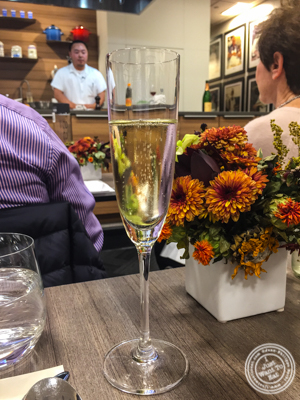 Crémant d'Alsace brut from Camille Braun at De Gustibus Cooking School at Macy's, NYC, NY
