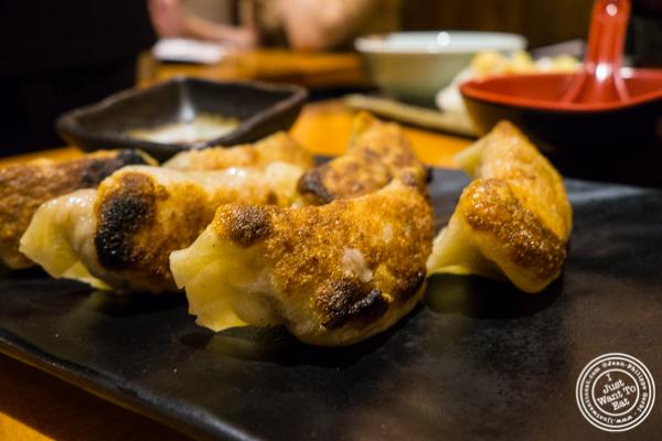 Fried pork gyoza at Sake Bar Hagi 46 in Hell's Kitchen, NYC