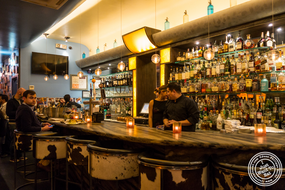 Bar at Bustan on the Upper West Side, NYC