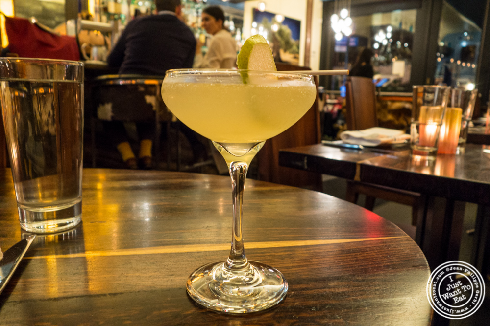 Pear cocktail at Bustan on the Upper West Side, NYC