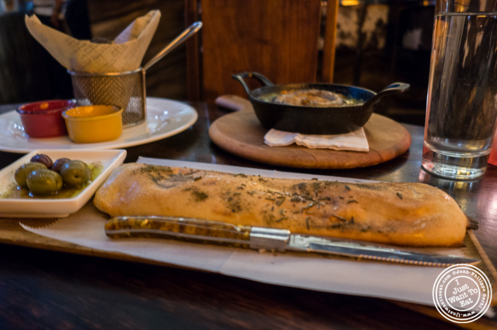 Homemade bread at Bustan on the Upper West Side, NYC