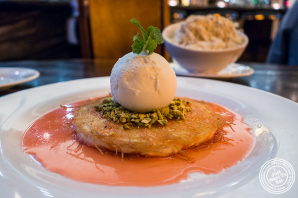 Kanafeh at Bustan on the Upper West Side, NYC