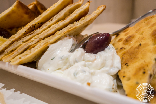 Tzatziki at Korali Estiatorio on the Upper East Side, NYC, NY