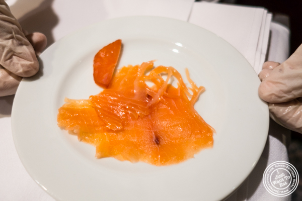 Smoked salmon at Petrossian in NYC, New York