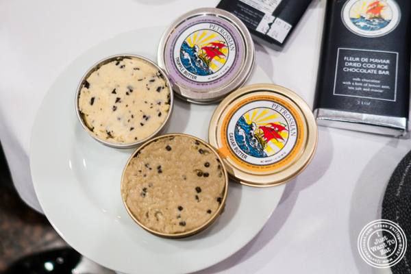 Caviar butter and truffle butter at Petrossian in NYC, New York