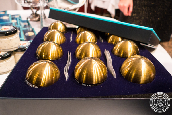 12 Days of Caviar Tiger's Eye Collection at Petrossian in NYC, New York