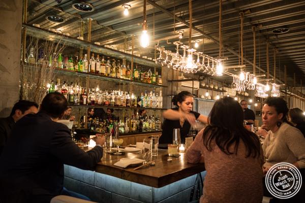 Bar area at Hanjan in NYC, New York