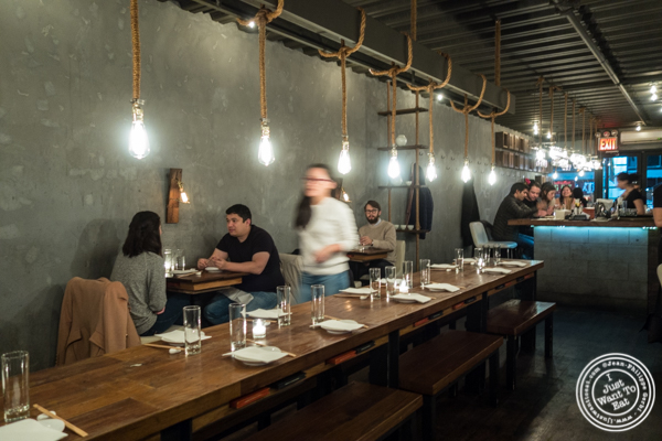 Dining room at Hanjan in NYC, New York