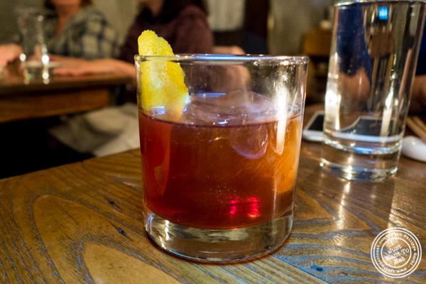 Yangbang Cowboy cocktail at Hanjan in NYC, New York