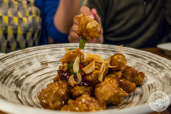 Spicy garlic fried chicken at Hanjan in NYC, New York