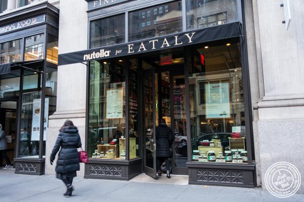 Facade of Eataly Nutella Bar in NYC, NY