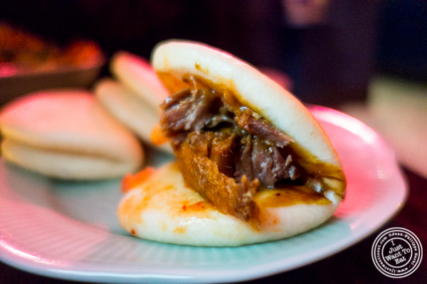 Confit duck bao at Chaan Teng in Hell's Kitchen, NY