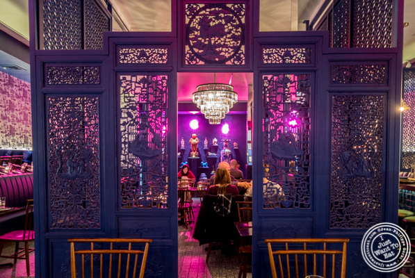 Dining room at Chaan Teng in Hell's Kitchen, NY