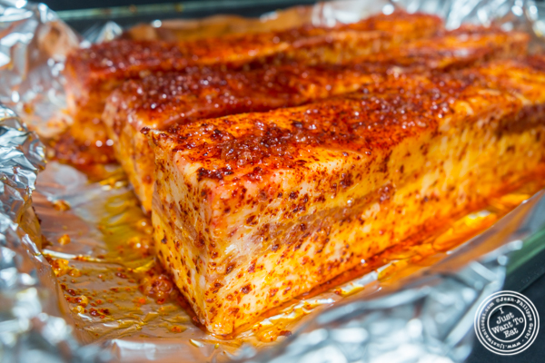 Pork belly with rub