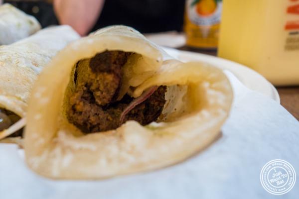 Shami kebab Kati roll at The Kati Roll Company in NYC, NY