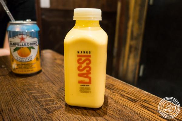Mango lassi at The Kati Roll Company in NYC, NY