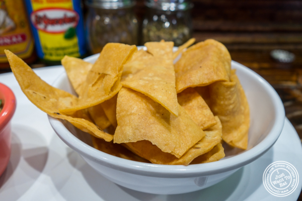 Tortilla chips at Tehuitzingo in Hell's Kitchen