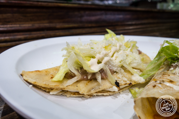 Cheese quesadilla at Tehuitzingo in Hell's Kitchen