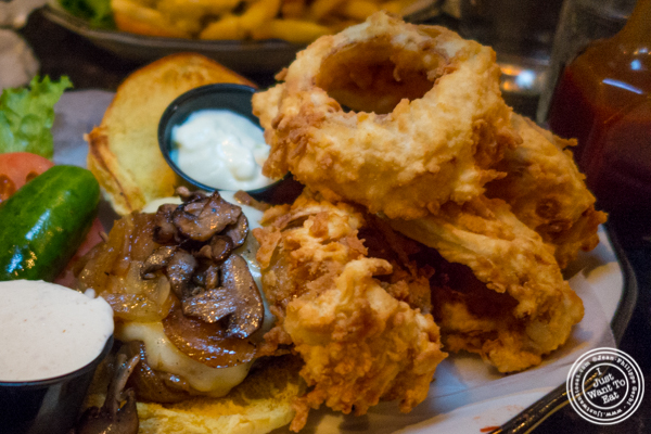 Onion rings at Black Tap Burger, Meatpacking District, NYC