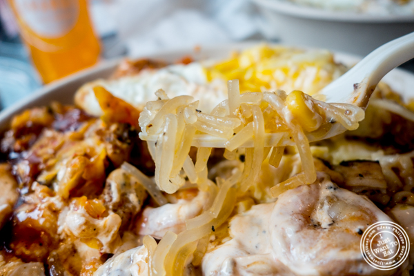 Glass noodles at Gogi Grill, Korean restaurant in Hoboken, NJ