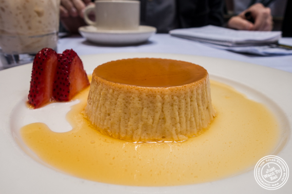 Flan at Victor's Café, Cuban restaurant in NYC, NY