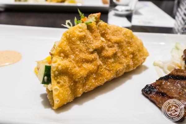 Lobster taco at Haru in Hell's Kitchen, NYC, NY