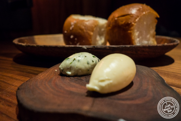 Bread and butter at Butter in NYC, NY