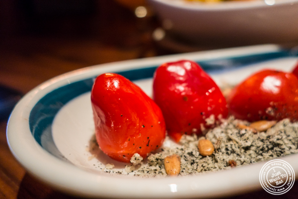 Stuffed cherry peppers at Butter in NYC, NY