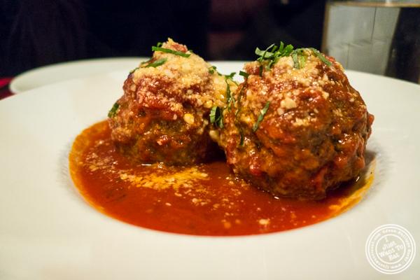 Meatballs at Lugo Cucina in NYC, NY