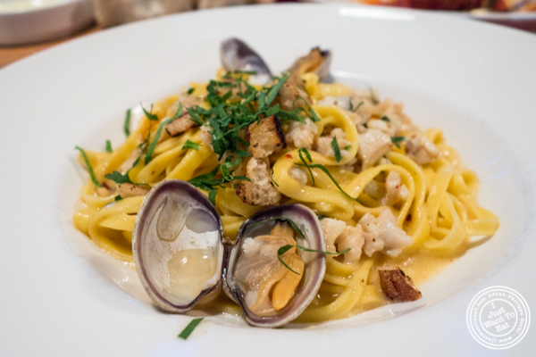 Linguine alle Vongole at Lugo Cucina in NYC, NY